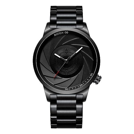 Reloj,Relojes Hombre Moda Negocios Simple Acero Inoxidable Impermeable Reloj Analógico De Cuarzo