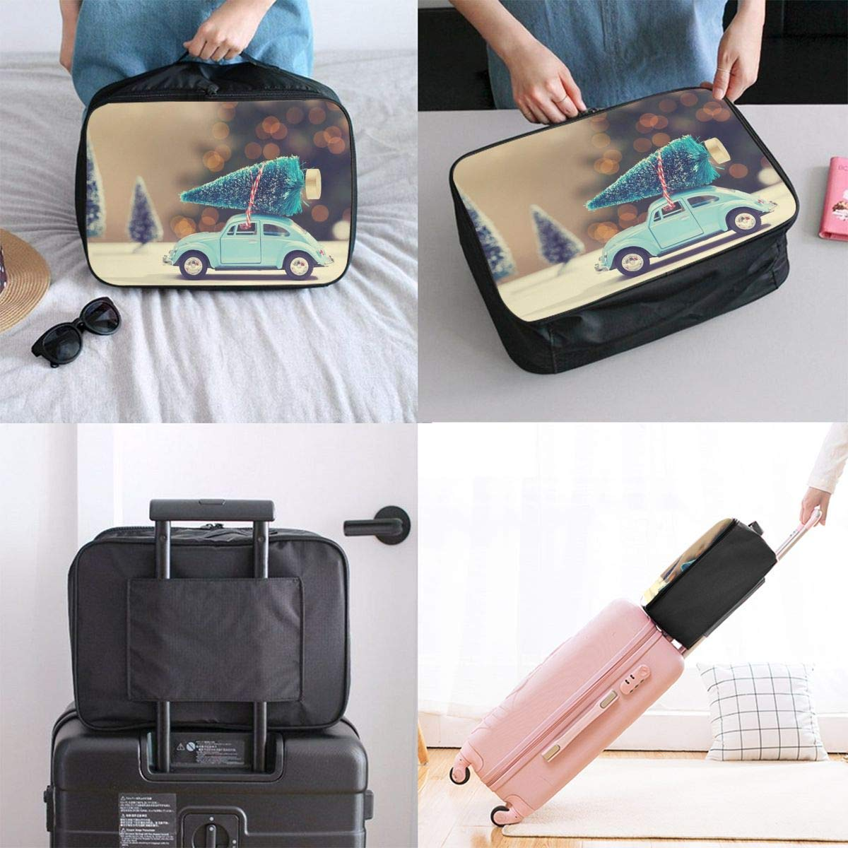 JTRVW Luggage Bags for Travel Lightweight Large Capacity Portable Duffel Bag for Men /& Women Cartoon Car And Tree Travel Duffel Bag Backpack