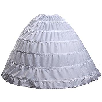 Fanhao Hoop Skirt Wedding Dress Bridal Petticoat Underskirt Crinoline Slip6 Hoops