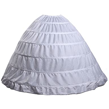 Fanhao Hoop Skirt Wedding Dress Bridal Petticoat Underskirt Crinoline Slip6 Hoops