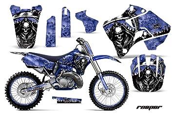 Yamaha YZ 125 2 Stroke Motocross Graphic Kit (1998) - Reaper: Blue