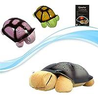 Işıklı Ninni Söyleyen Kaplumbağa Peluş Kahverengi Çocuk Lambası