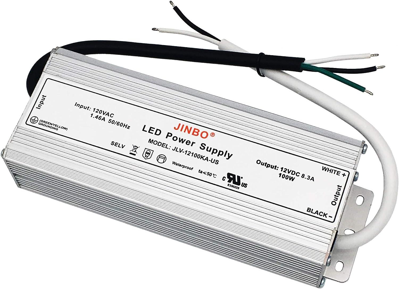 CNBRIGHTER-진보 12V DC 전원 공급 장치 100W UL 100V 130V AC12V DC LED 낮은 전압 변압기 IP67 방수 변환기에 일정한 전압 LED 운전사를 위해 점화(100WATTS)