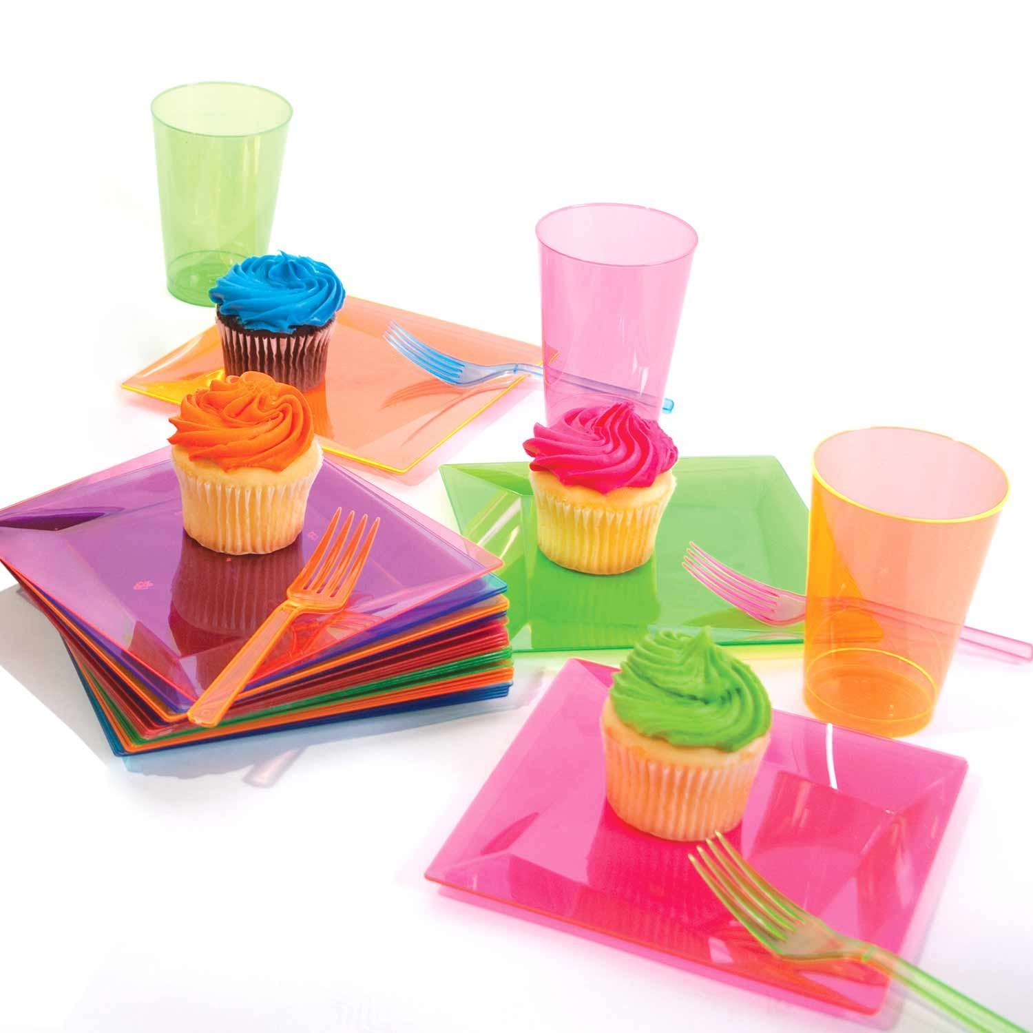 Party Essentials Hard Plastic 9-Ounce Party Cups/Old Fashioned Tumblers, 200-Count, Assorted Neon by Party Essentials (Image #6)