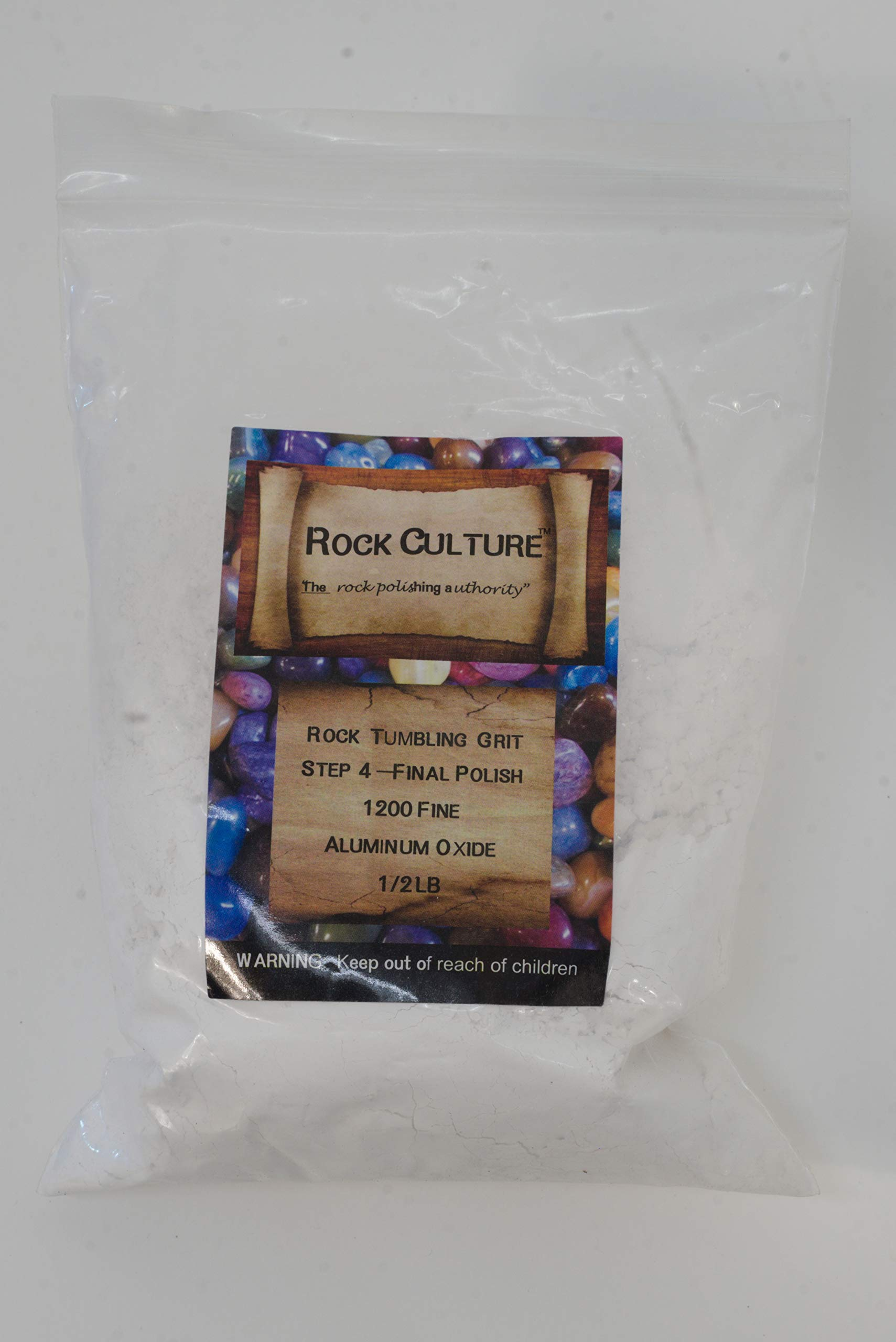 Rock Culture Rock Tumbler Tumbling Media Grit Kit in Heavy Duty Resealable Bags - No Filler Material by Rock Culture