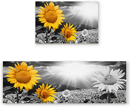 Anti Fatigue Comfort Kitchen Floor Mat Rug 18x30 Sunshine Blossom Sunflowers Door Mats Home Garden