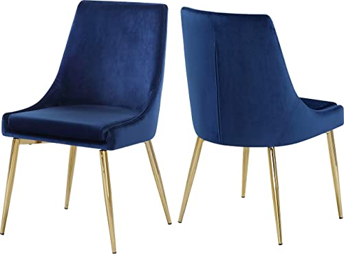 Meridian Furniture Karina Collection Modern | Contemporary Velvet Upholstered Dining Chair