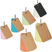 6er Pocket Lernkarten mit Ring, ZOOMSKY 460 Blätter Blanko mini Karteikarten Study Flash Card klein Notizbuche Notizblock in Sortierten Farben für Vokabeln lernen Unterwegs