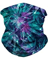 iHeartRaves Ganja Galaxy Weed Face Mask Bandanas for Dust, Music Festivals, Raves, Riding, Outdoors