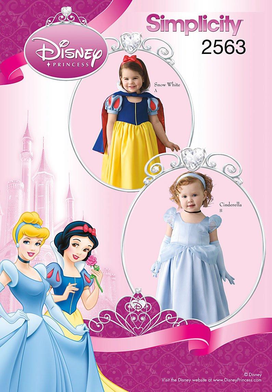 Amazon Com Simplicity Disney Princess Pattern 2563 Toddler Snow