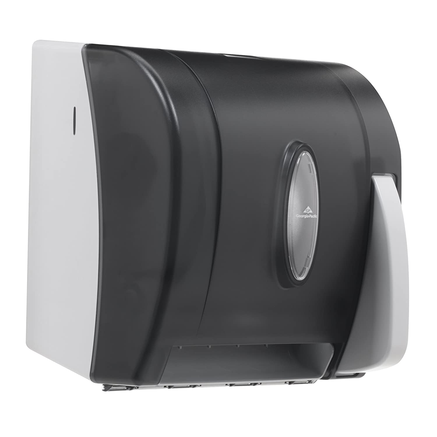 Georgia-Pacific Vista 54338 Black Hygienic Push Paddle Roll Paper Towel Dispenser, 12.75