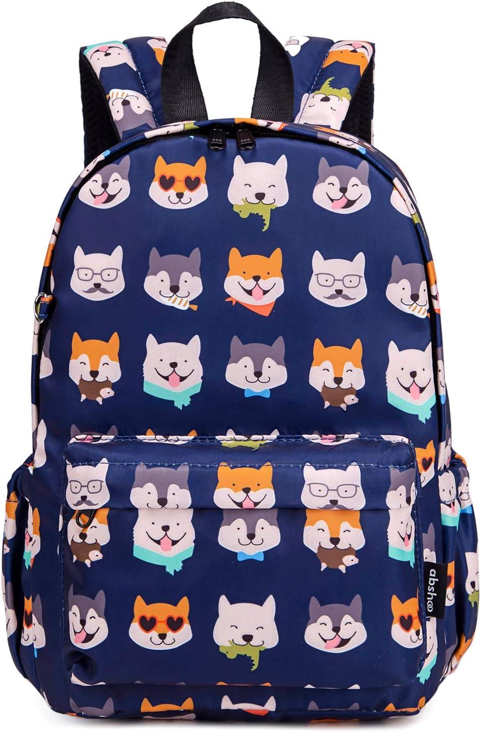 Abshoo Little Kids Toddler Backpacks for Preschool Backpack With Chest Strap (Husky Dog Navy)