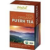Imozai Organic Puerh Tea Bags 100 Count Individually Wrapped