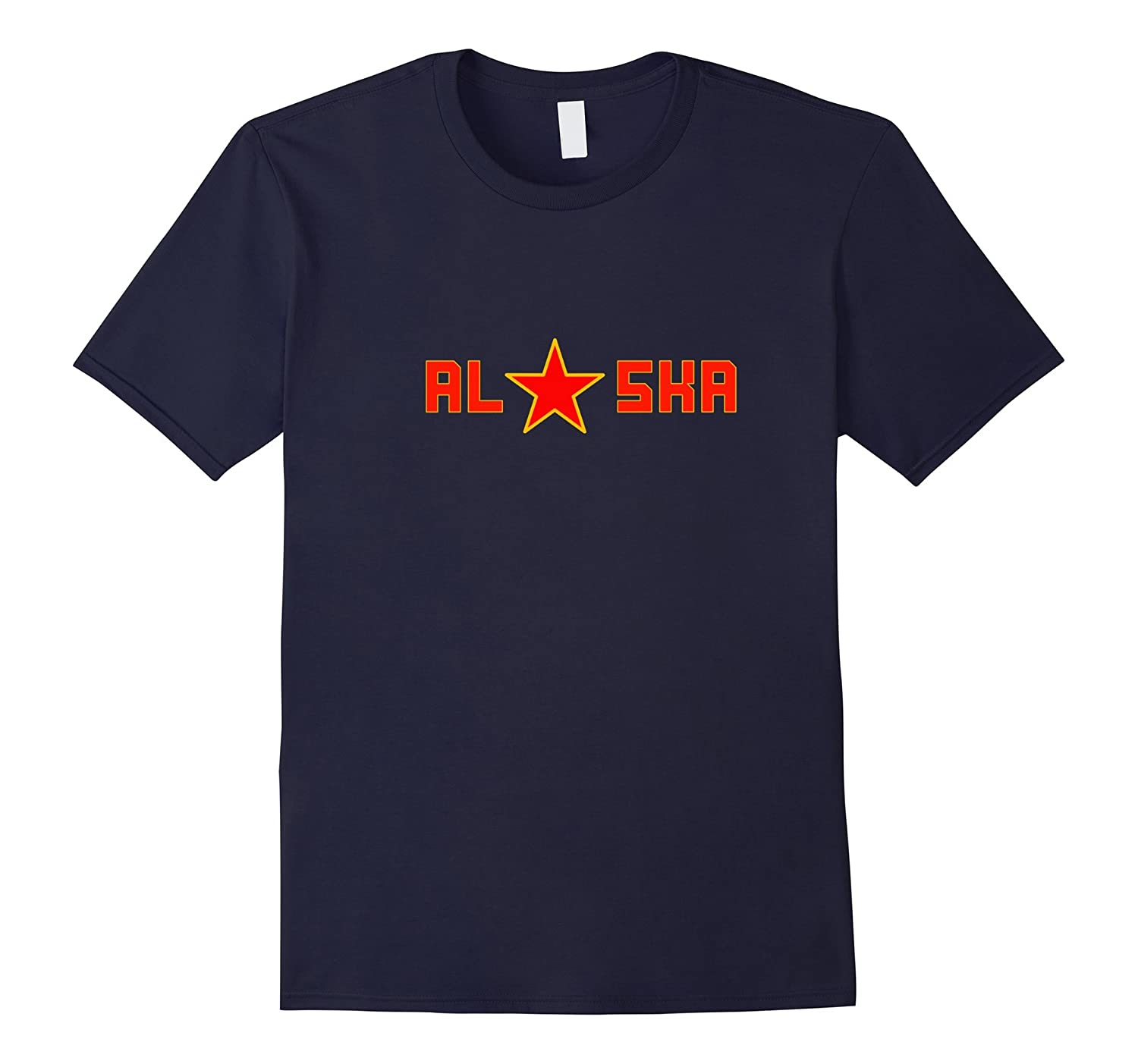 Alaska Red Star Adult Kids Women Tshirt-Vaci