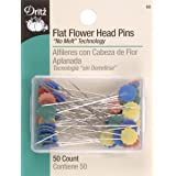Dritz 68 Flat Head Pins, Flower, 2-Inch (50-Count)