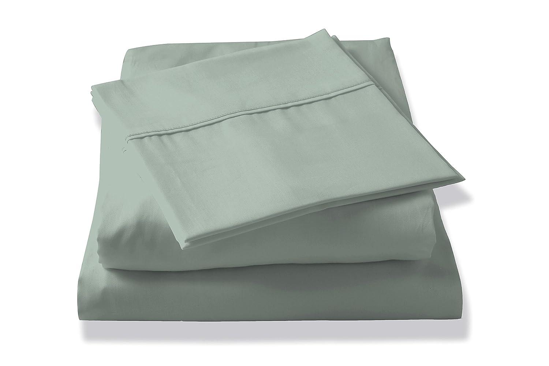 Grey Stripe 807000166091 Brielle 400 Thread Count Egyptian Cotton Sateen Fine Sheet Set Twin XL