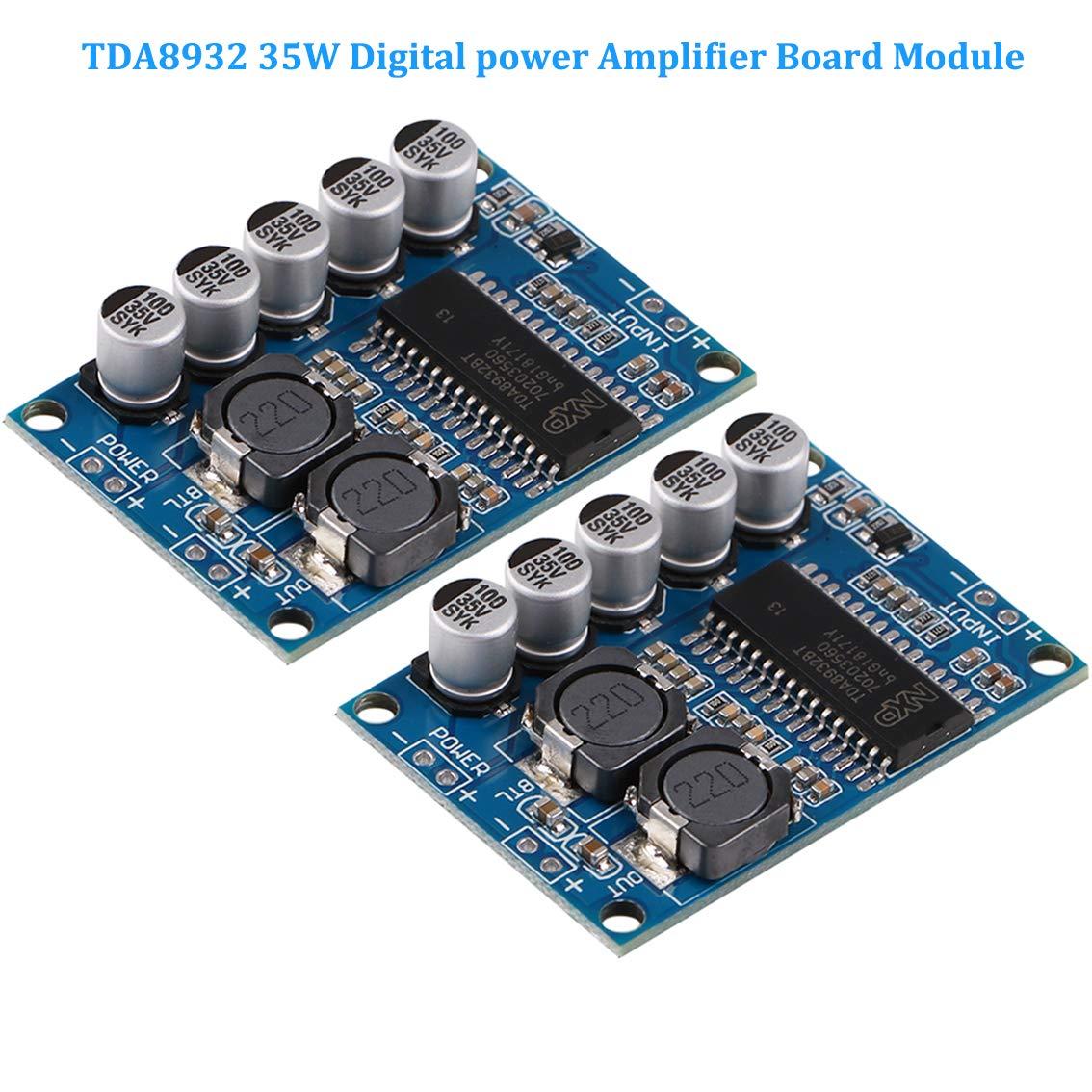 Innovateking-EU 2 St/ück Digitales Verst/ärkerplatine Modul 5Wx2 Lautst/ärkepotentiometer Stereo Ger/äuschloses Leistungsverst/ärker Modul PAM8406
