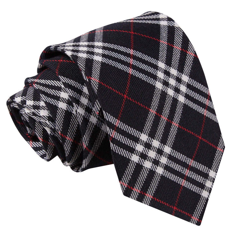 Neu DQT Baumwolle Scottish Schottenkaro Herren Mode Elegante Klassisch 9cm Krawatte Verschiedene Farben