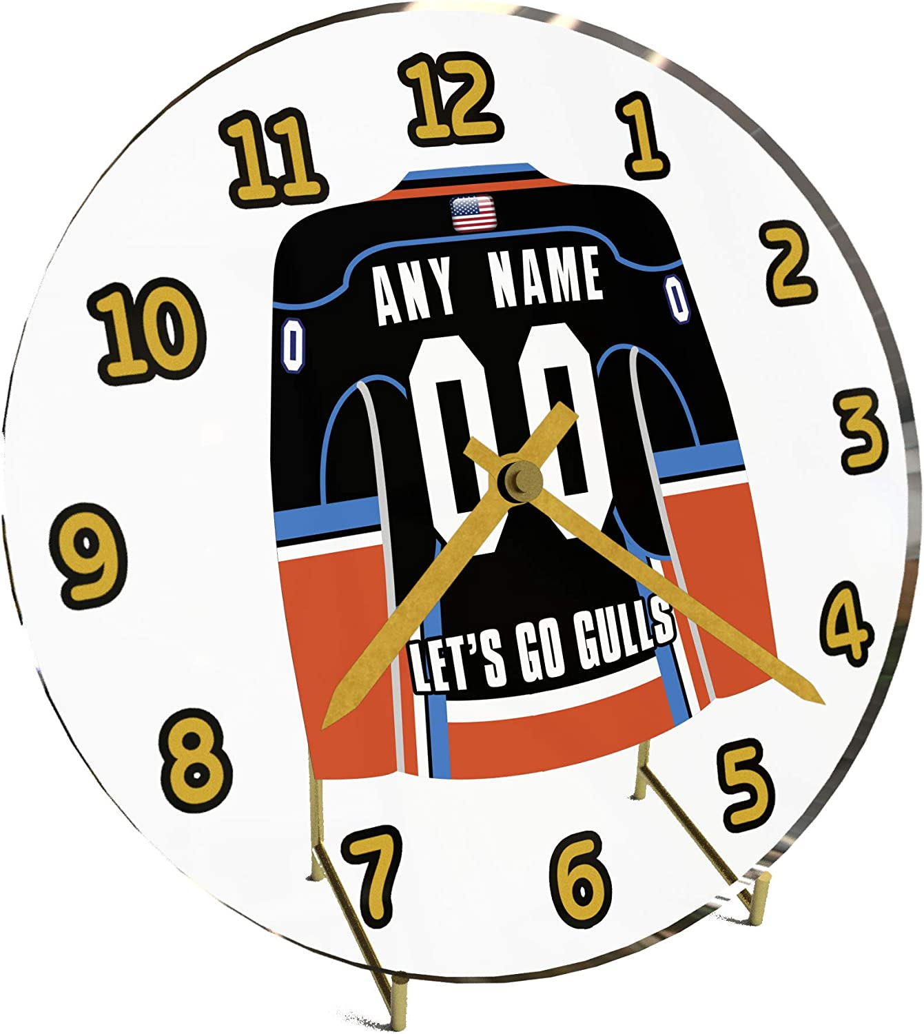FanPlastic AHL American Hockey League Jersey Themed Desktop Clocks – All A H L Team Colours Available – Support Your Team