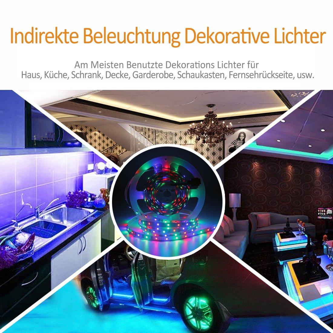 LED Streifen RGB 10M/32.8ft AveyLum LED Band Lichtleiste 3528 SMD ...