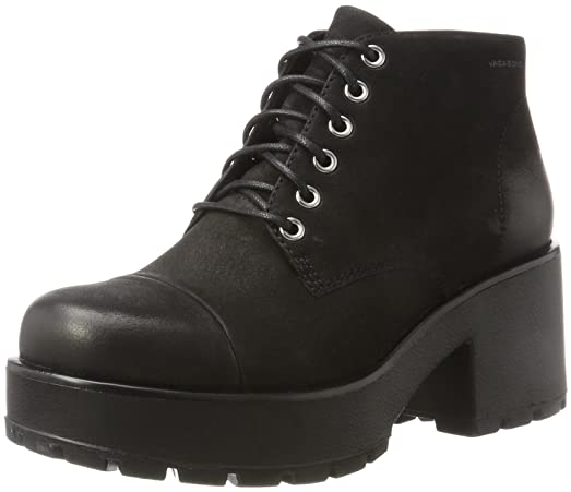 Womens Vagabond Dioon Ankle Fashion Block Heel Nubuck Platform Boot