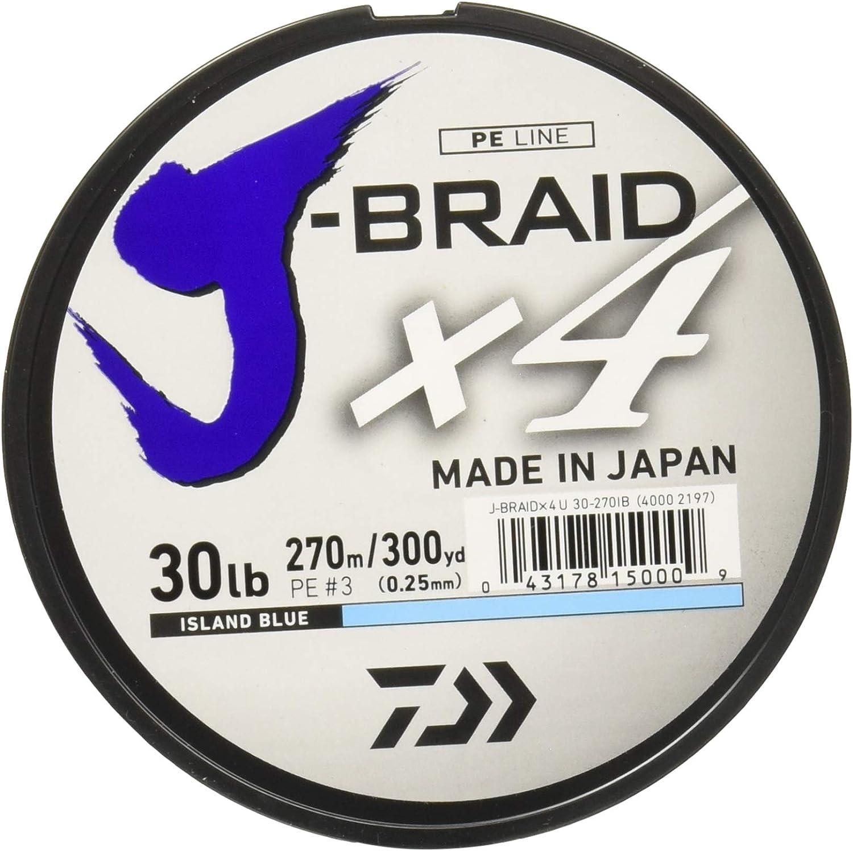 Daiwa Braided Fishing Line JB4U20-300IB J-Braid X4 4Strand Braided Line, 20 300 yd