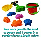 8 Piece Sand Play Set - Bucket, Shovel, Rake, and