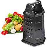 Professional Box Grater,Nonstick Coating Stainless Steel with 6 Sides - Vegetable Chopper, Kitchen Cutter, Shredder for…