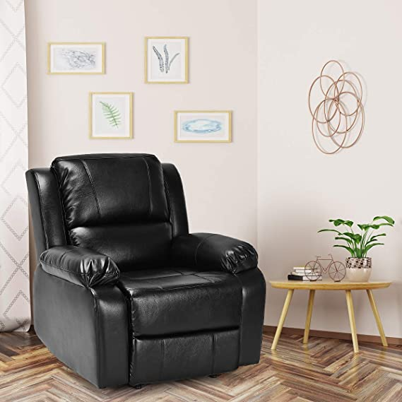 Amazon.com: Giantex reclinable silla de sofá de piel ...