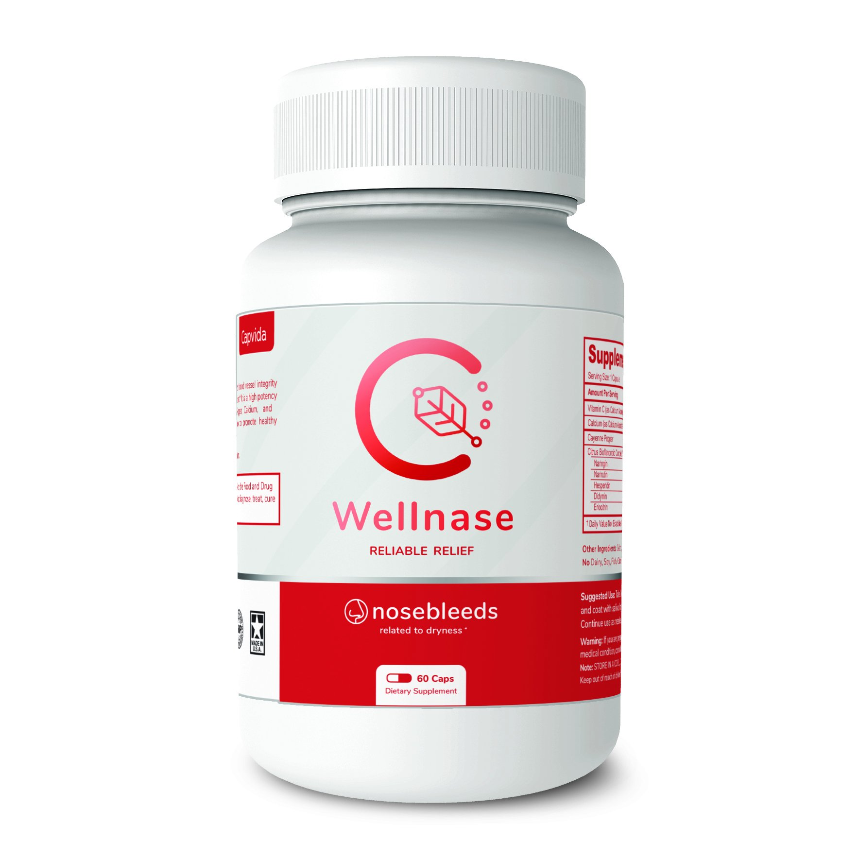 Wellnase Nosebleed Relief – Promotes Blood Vessel Strength and Elasticity - Supports Natural Healing Process – 60-Count Bottle