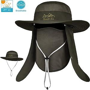 07a26b00e2933 LCZTN Outdoor Sun Cap for Men   Women Breathable Wide Brim Fishing Hat UPF  50+
