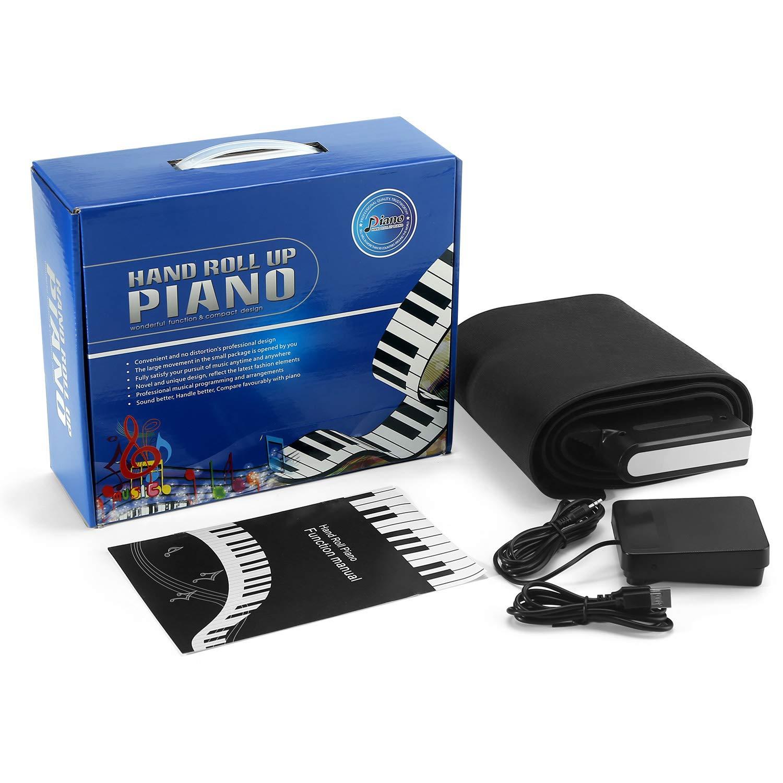 Lujex 88 Touches Piano Claviers Rechargeable Pliable Portable Electronique avec 2 Haut-parleur Int/égr/é Piano Roll Up Flexible