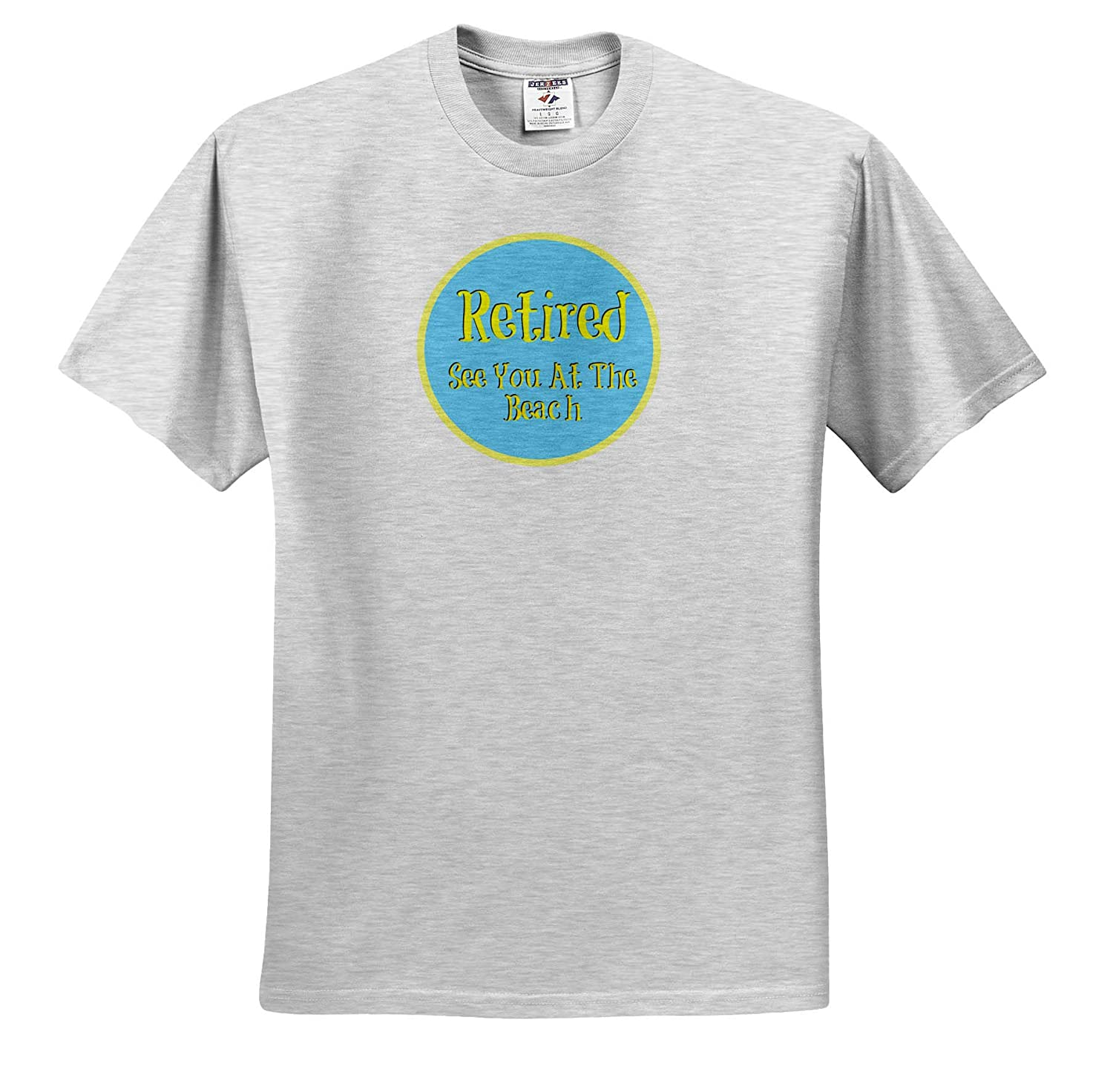 ts/_312653 Image of Retired See You at The Beach Adult T-Shirt XL 3dRose Carrie Merchant Quote