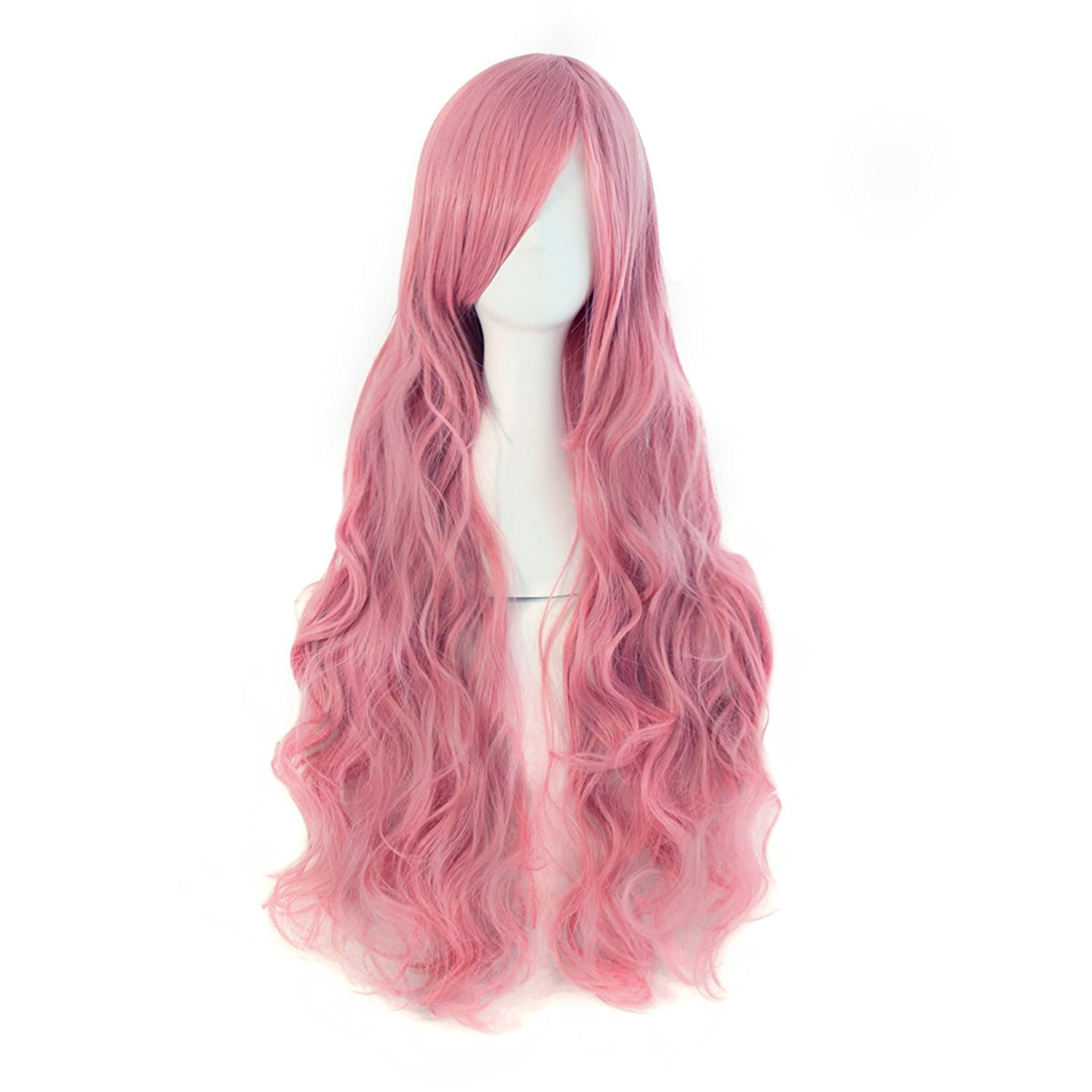 MapofBeauty 32 80cm Long Hair Spiral Curly Cosplay Costume Wig (Light Blonde)