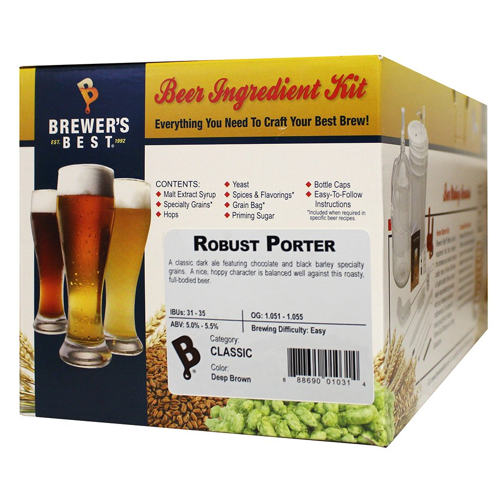 Brewer's Best - Home Brew Beer Ingredient Kit (5 gallon), (Robust Porter)