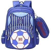 Moonmo Boys Backpack Soccer Printed Kids School Bookbag for Primary Students