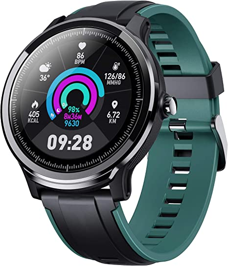 Smart Watch for Health & Fitness Tracker with Heart Rate Monitor, Activity Tracker, Step Counter, Sleep Monitor, Calorie Counter, 1.3 for Android ...