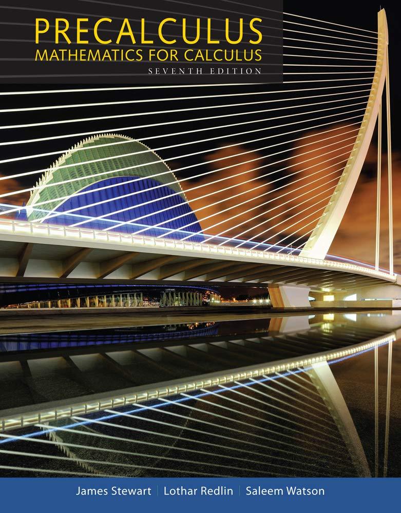 Precalculus Mathematics For Calculus Stewart James