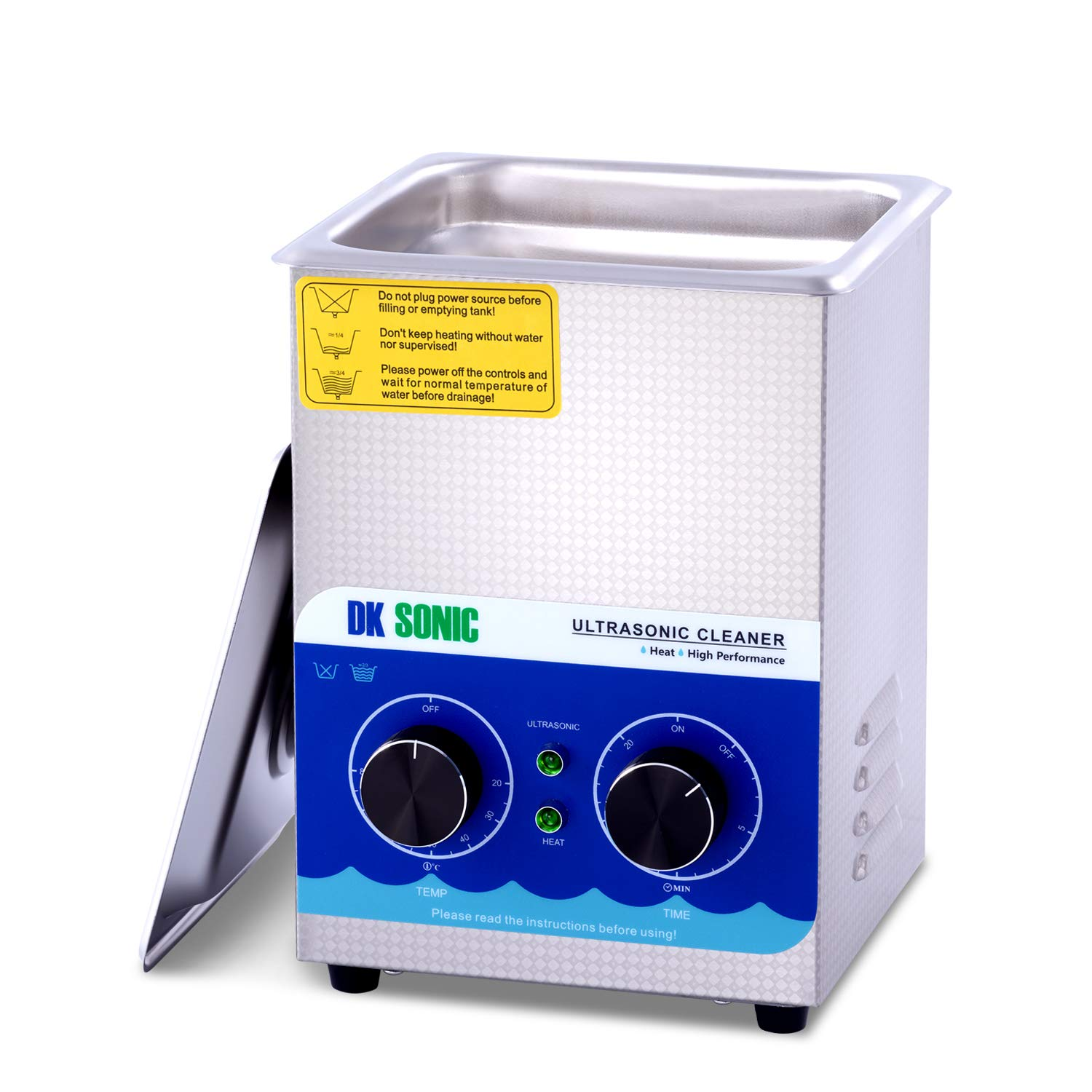 Commercial Ultrasonic Cleaner-DK SONIC 2L 60W Sonic Cleaner with Heater|Basket for Jewelry,Ring,Eyeglasses,Denture,Watchband,Coins,Small Metal Parts,Circuit Board etc