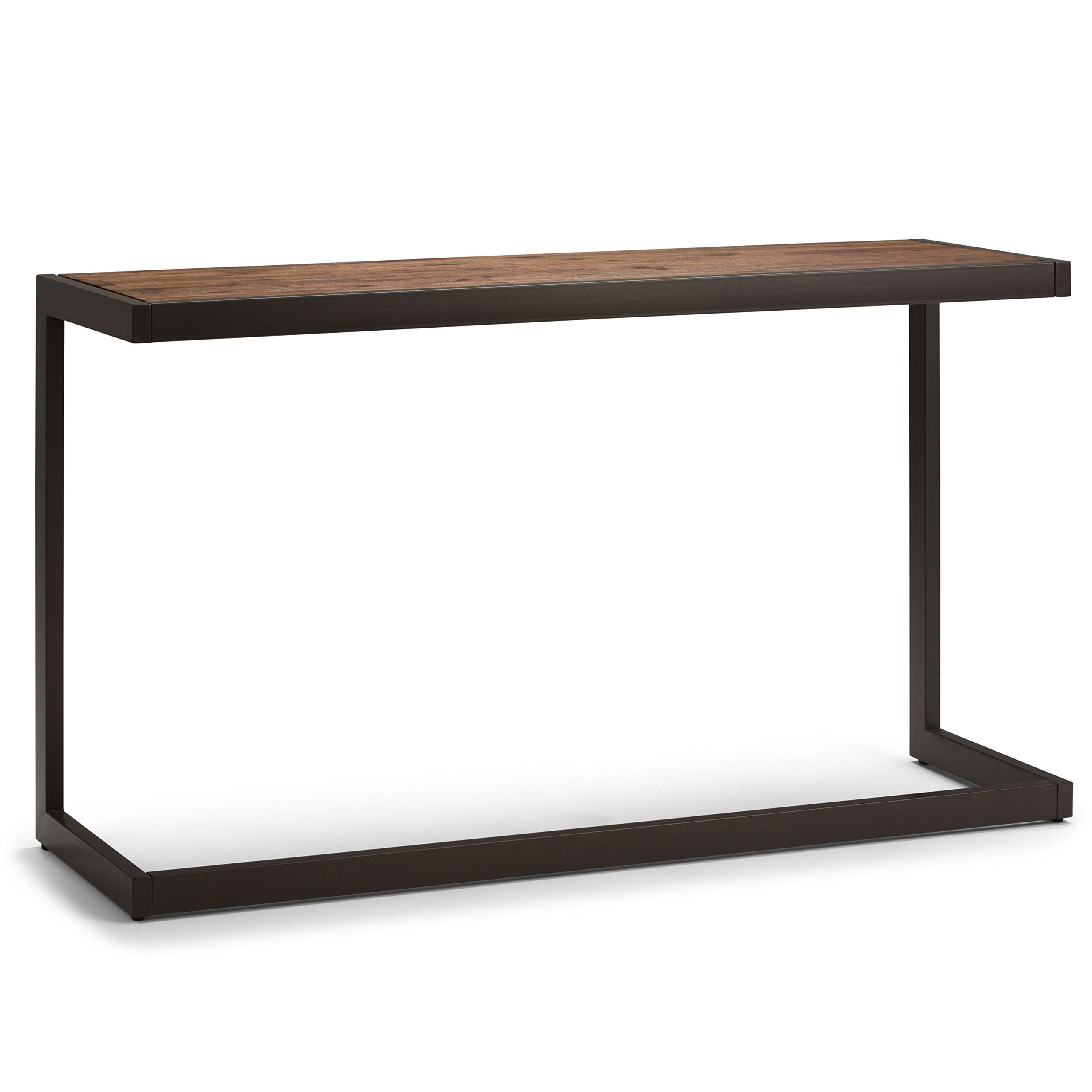 Simpli Home AXCERN-03 Erina Solid Acacia Wood and Metal 52 inch Wide Modern Industrial Console Sofa Table in Rustic Natural Aged Brown by Simpli Home