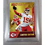 2017 PATRICK MAHOMES ROOKIE NFL GOLD ROOKIE GEMS RC LIMITED EDITION IN A PLASTIC TOP LOADER