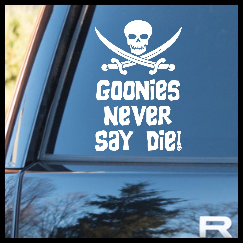Goonies Never Say Die Jolly Roger, The Goonies-inspired Fan Art, Vinyl Car Decal