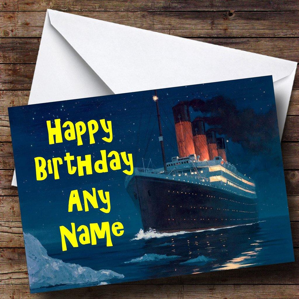 Amazon.com: El Titanic Barco Barco personalizado tarjeta de ...