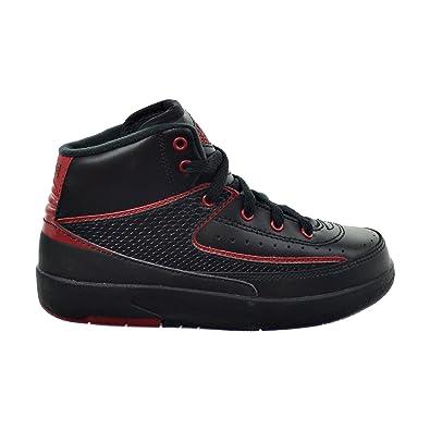 9f918284aa94 Jordan 2 Retro BP Little Kid s Shoes Black Varsity Red 395719-002 (2.5