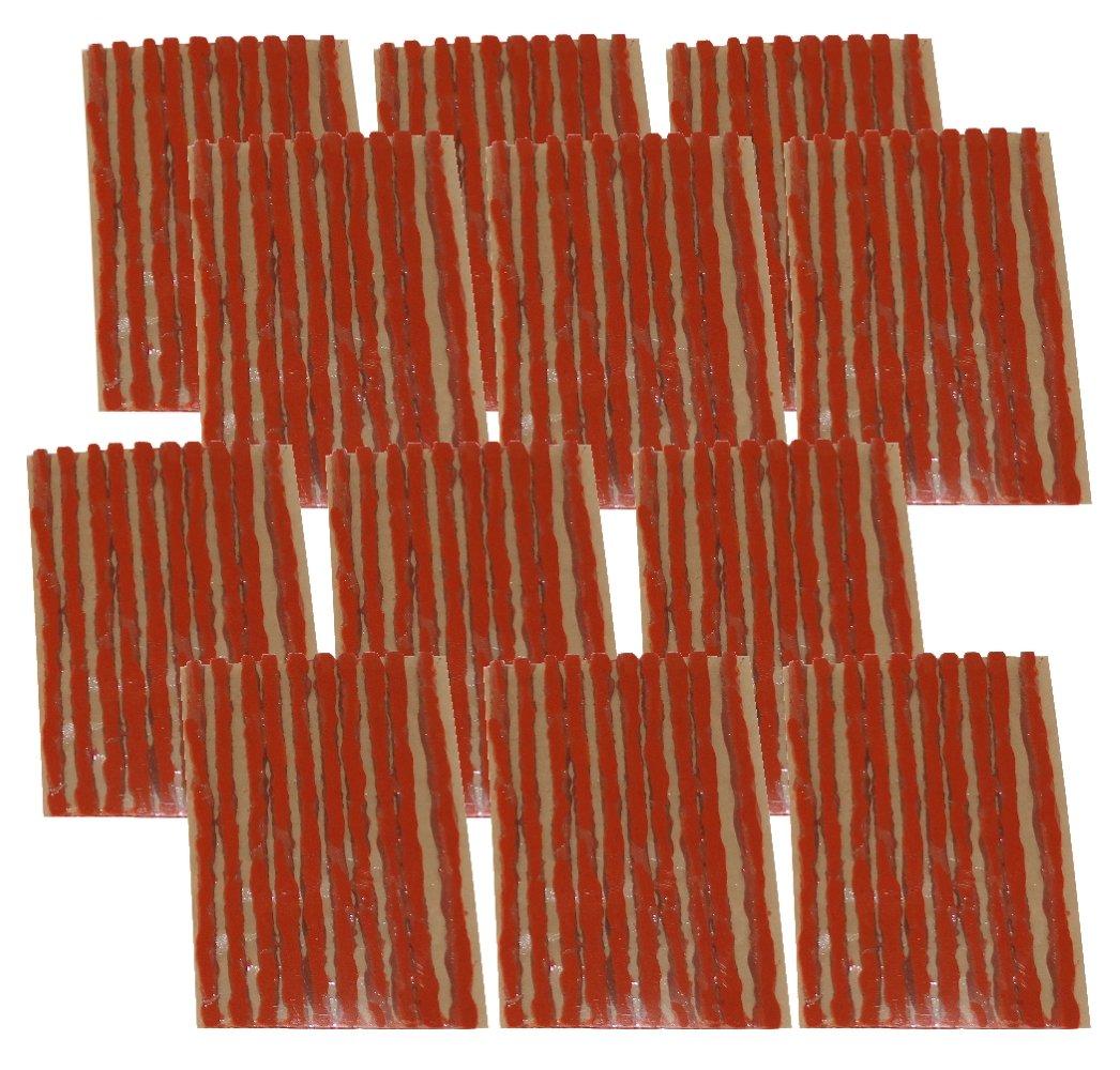 AERZETIX: Lot de 120 mè ches 4mm 10cm Marron pour kit de ré paration de Pneu C40654x120F-12L