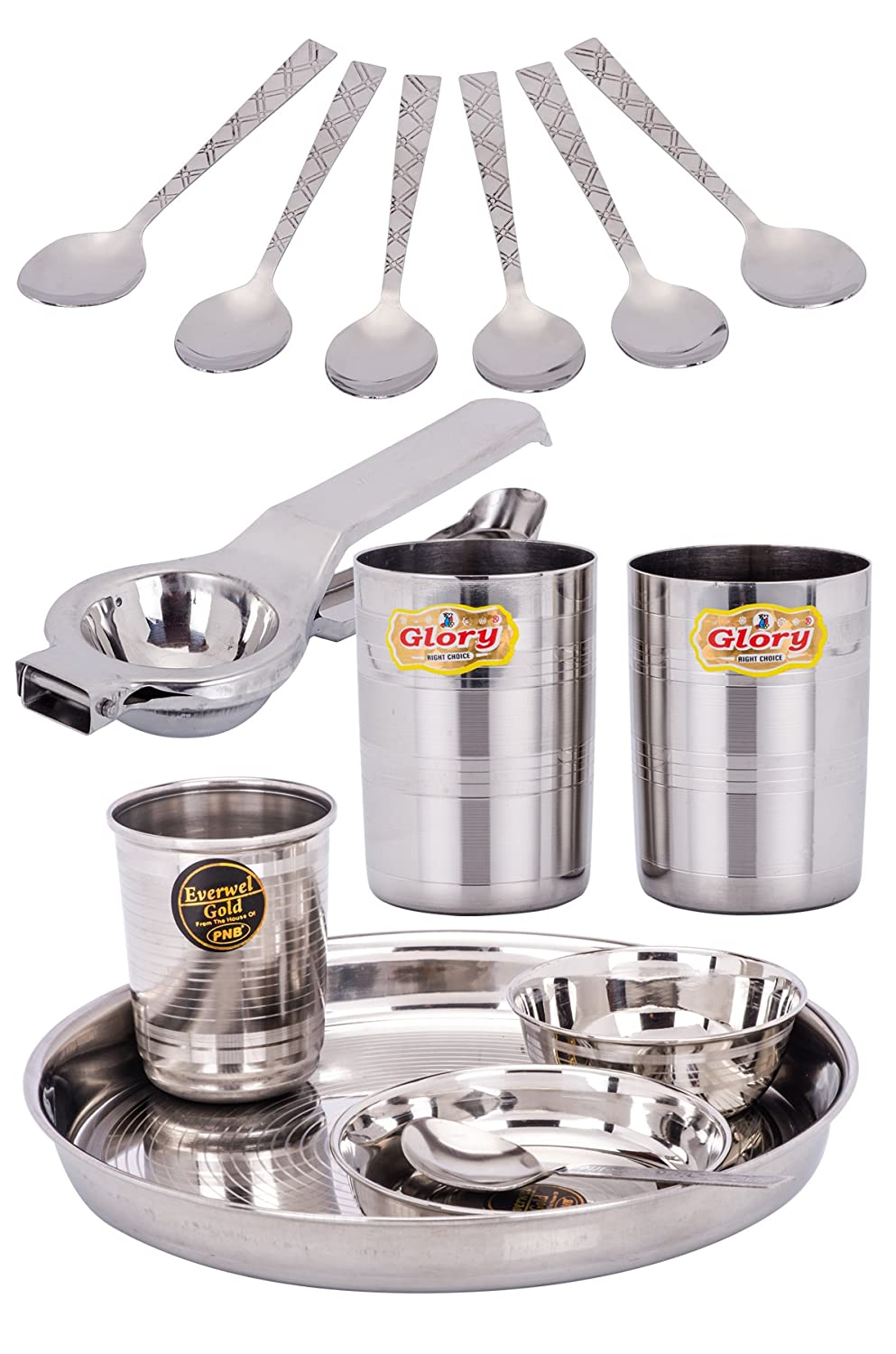 Crockery wala and company everwel 4 pcs kitchen set combo set of 7 amazon in home improvement