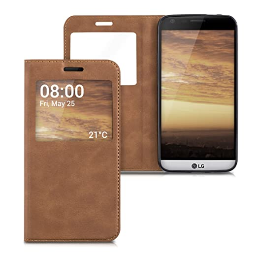 9 opinioni per kwmobile Cover per LG G5 / G5 SE- Custodia magnetica con apertura a libro e