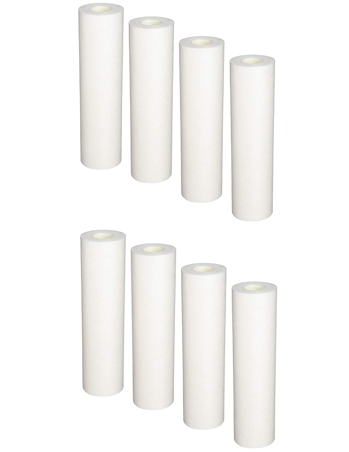 Compatible with 8-Pack Replacement GE GXWH04F Polypropylene Sediment Filter - Universal 10-inch 5-Micron Cartridge for GE HOUSEHOLD PRE-FILTRATION SYSTEM
