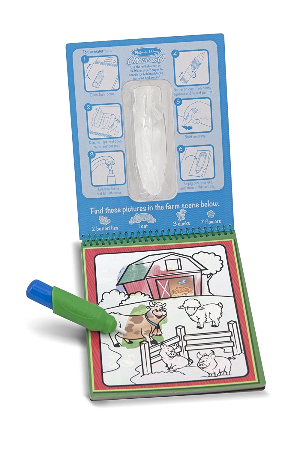 Amazon.com: Melissa & Doug Water Coloring & Painting Book, (Water ...