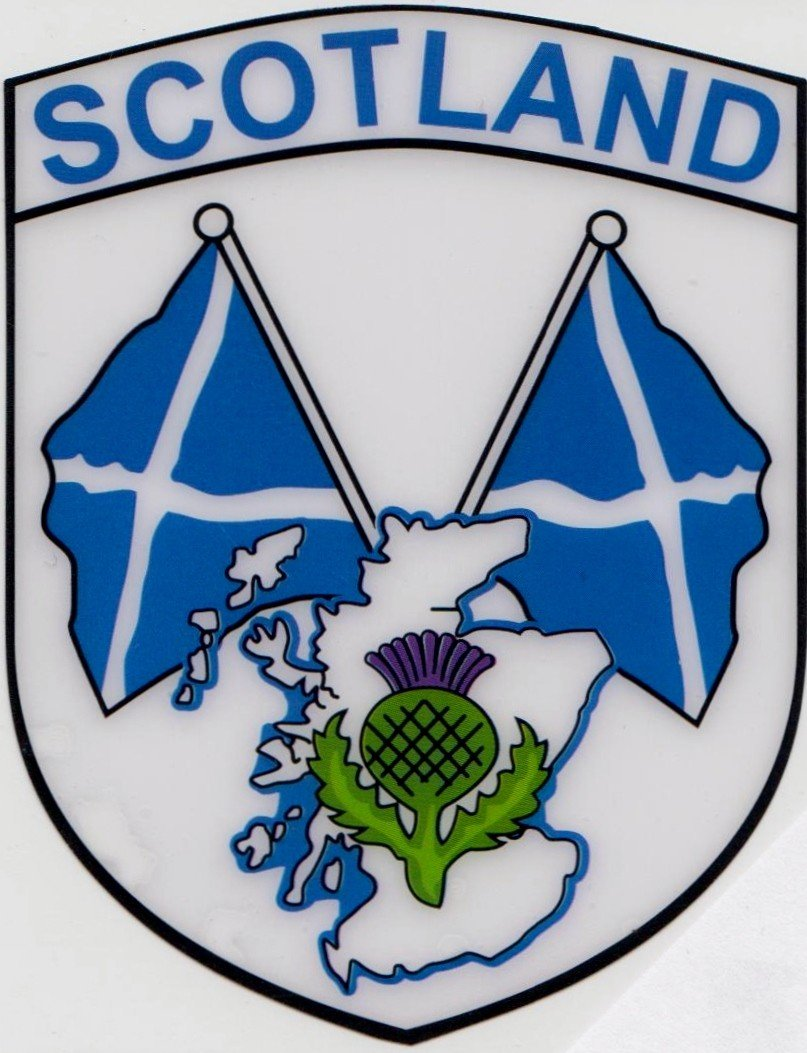 Scotland Scottish Double Saltire Flag Vinyl Car Sticker